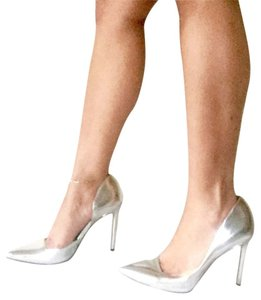 Kenneth Cole Metallic Silver Pumps
