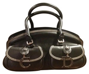 Dior Leather Satchel in Black