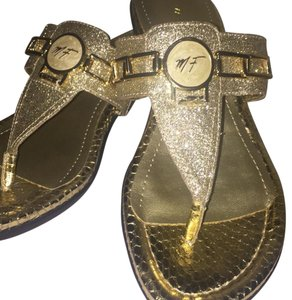 Marc Fisher Gold Sandals