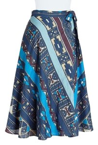 Anthropologie Wrap Skirt BLUE