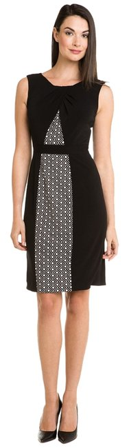 Preload https://img-static.tradesy.com/item/1735890/anne-klein-black-crepe-print-jersey-knee-length-workoffice-dress-size-2-xs-0-0-650-650.jpg