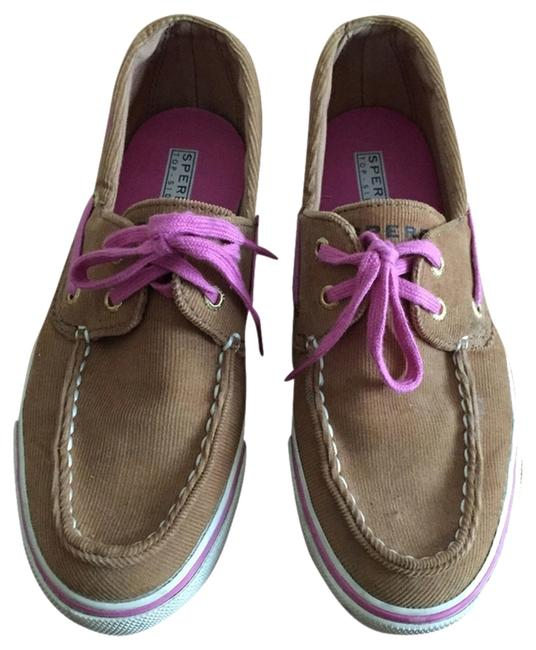 Sperry Tan Top-sider Corduroy with Pink Flats Size US 6.5 Regular (M, B) Sperry Tan Top-sider Corduroy with Pink Flats Size US 6.5 Regular (M, B) Image 1