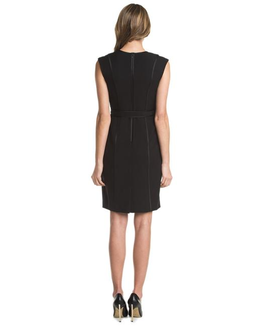 Ellen Tracy Satin Trim Tie Waist Dress
