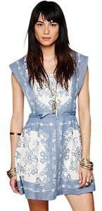 Free People short dress Blue and Cream on Tradesy