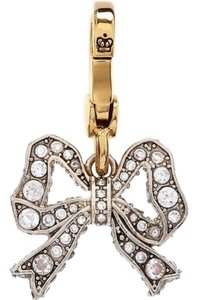 Juicy Couture Juicy Couture Pave Crystal Bow Gold Rare Charm