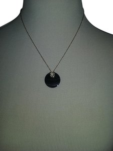 Michael Kors w/BONUS**-2 Piece Set-Black Agate Pendant & Bar Studs