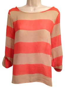 Rachel Kate Top Salmon/ Beige