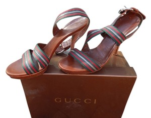 Gucci Gucci Green and Red Platforms