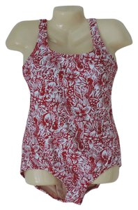 Lands End New LANDS END 1 pc swimsuit size 14 red&white