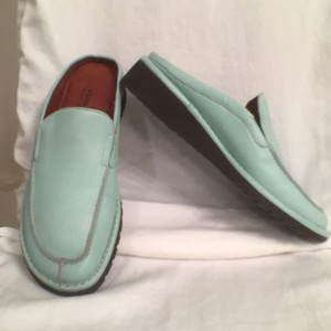 Donald J. Pliner Leather Flex Sole Green Mules