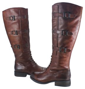 Vince Camuto Two Toned Tall Lace Up brown Boots