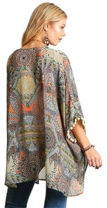 TIN Showoom Kimono Hippie Beach Cover Up Vest