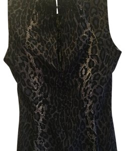 BCBGMAXAZRIA Top Animal print - bluish purple, grey & black