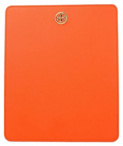 Tory Burch Tory Burch Robinson Leather Mouse Pad Blood Orange