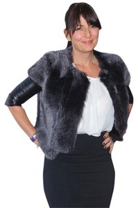 J Brand Fur Leather Jacket