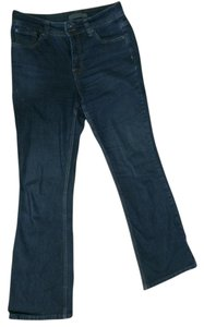 Nine West Dark Professional Flattering Indigo Boot Cut Jeans-Dark Rinse