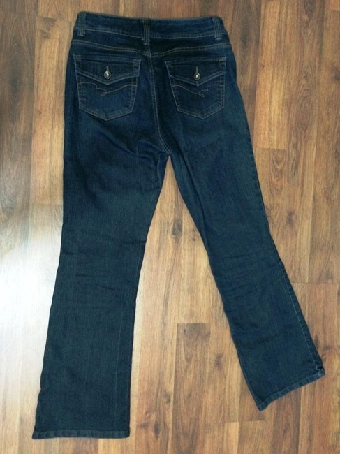 Nine West Professional Flattering Indigo Boot Cut Jeans-Dark Rinse