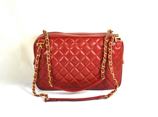 Chanel Camera Leather Quilted Shoulder Bag