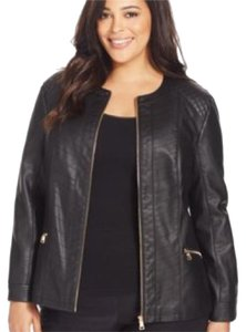 Charter Club Black, Gold Leather Jacket