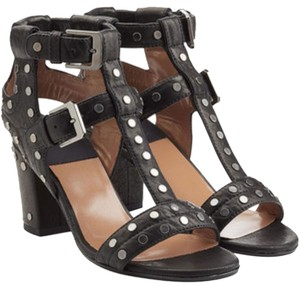 Laurence Dacade Studded Helie Leather Black Sandals
