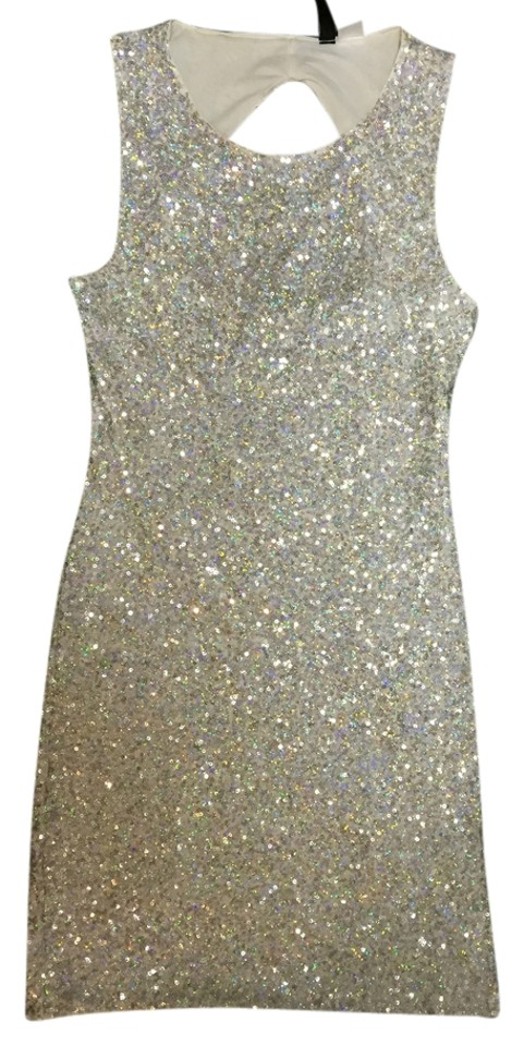6057aea7d0c35 Divided by H&M Silver Sequin Sparkle Mini Cocktail Dress Size 4 (S ...