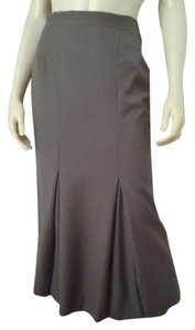 Burberry Italy Fluted Long Maxi Skirt Olive Green