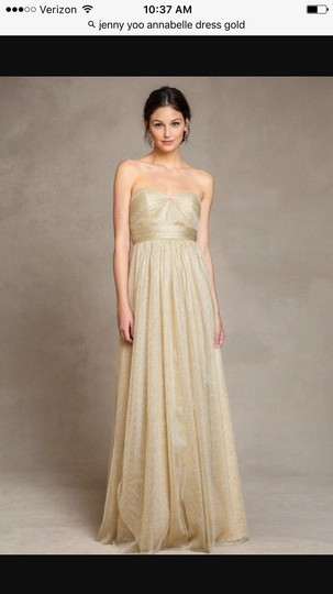 7a56b520f2b6 delicate Jenny Yoo Gold Brand New Annabelle Convertible Tulle Column Dress  - 55% Off Retail