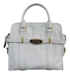 Burberry Leather Tote in White