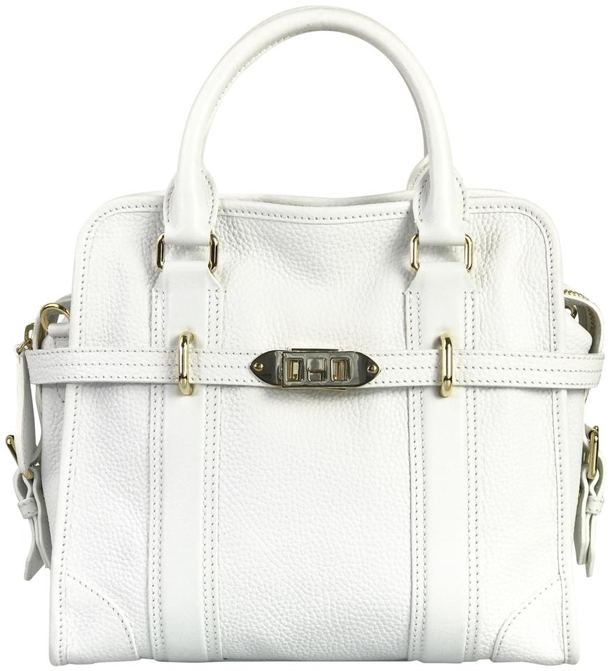 bc2a8ddbe10b Burberry White Leather Satchel - Tradesy
