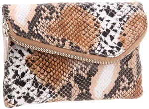 Hobo International Zara Clutch Wristlet Snakeskin Cross Body Bag