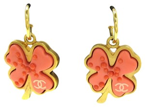 Chanel Chanel Pierced Salmon Motif Earrings