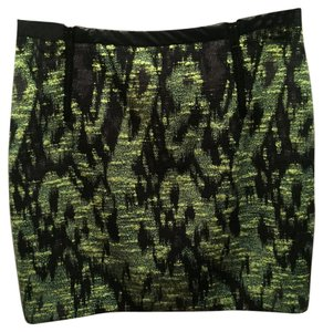 ASTR Mini Skirt Bright Green and Black