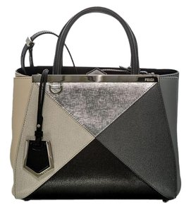 Fendi Satchel in White Grey silver