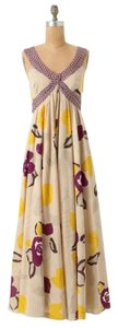 Purple, tan Maxi Dress by Anthropologie