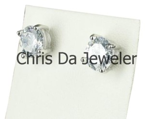 Other Men And Ladies Cz Cubic Zirconia 14k Gold Finish Screw On Back Earrings G Mane