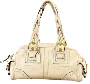 Coach Satchel in off white ivory