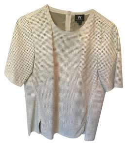 W by Worth Sexy Faux Top White Leather