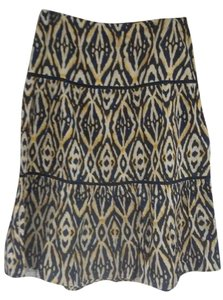 Jones New York Tribal Exotic Jny Skirt Beige - black