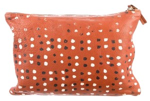 Clare V. . Clare Vivier Tan with Black and White Spots Clutch