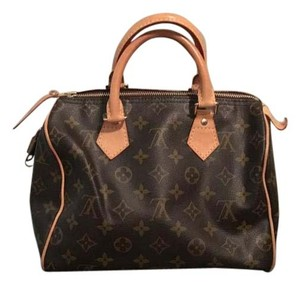 Louis Vuitton Speedy Damier Canvas Tote in brown