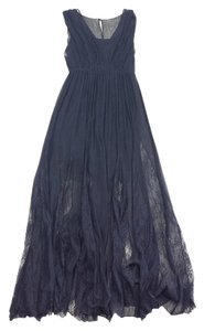 Maxi Dress by Alice + Olivia Black Sheer Lace Silk