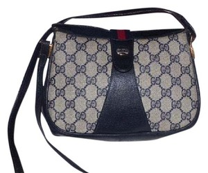 Gucci Large G Print Blue Logo Cross Body Bag