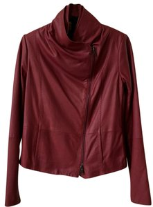 Vince Scuba Redleather Red Leather Jacket