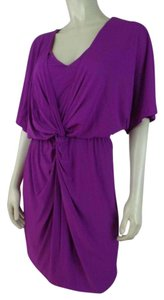 Trina Turk short dress Magenta New Stretch Knit Mini on Tradesy