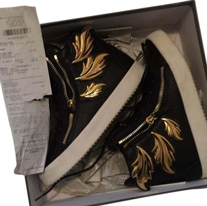 Giuseppe Zanotti Black with gold wings Athletic