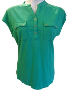 Talbots Sleeveless T Shirt Green