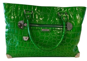 Rafe Crocodile Work Tote in Green