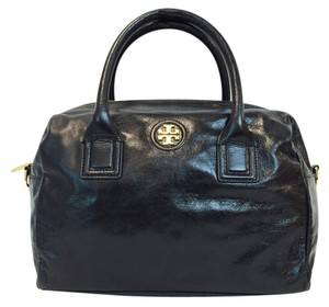Tory Burch City Leather Satchel in Black