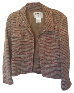 Chanel Vintage Tweed Classic Pink & Brown Blazer