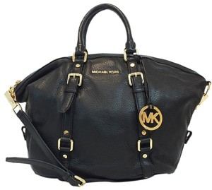 Michael Kors Bedford Bowling Leather Satchel in Black